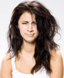 髪の毛爆発